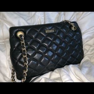 Kate Spade black leather quilted purse